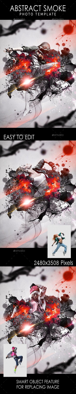 Abstract Smoke Photo Template #design Download: http://graphicriver.net/item/abstract-smoke-photo-template/11255305?ref=ksioks