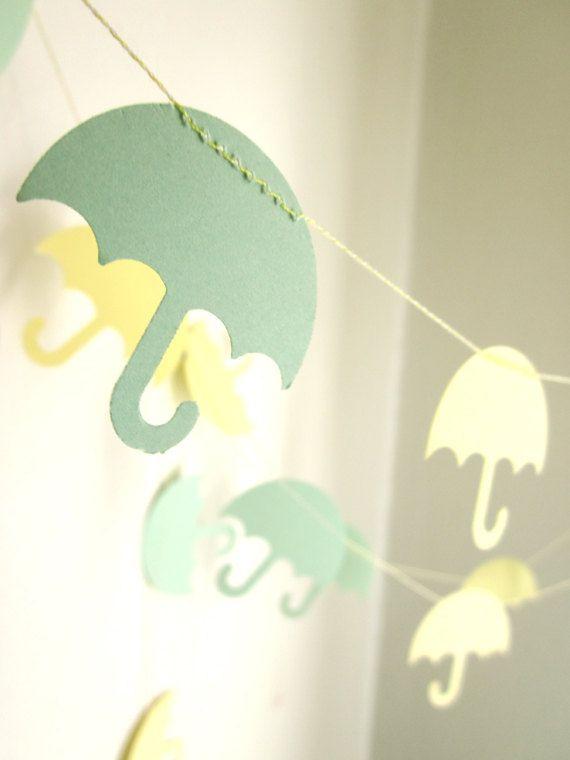 Umbrella Garland - Baby Shower Garland - Party Decoration - April Showers Garland.
