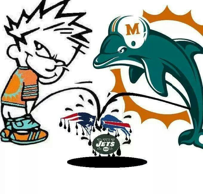 Miami dolphins got no love for the Jets!