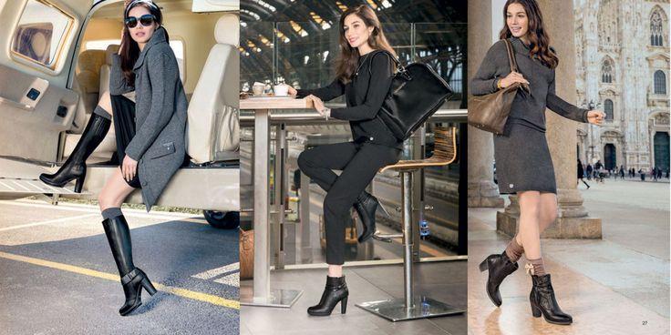 Vestiti di nero giardini stivali
