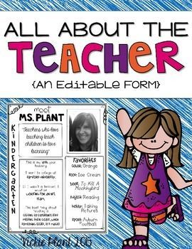 Great Back to School Freebie! Perfect for Back to School Night or Meet the Teacher!