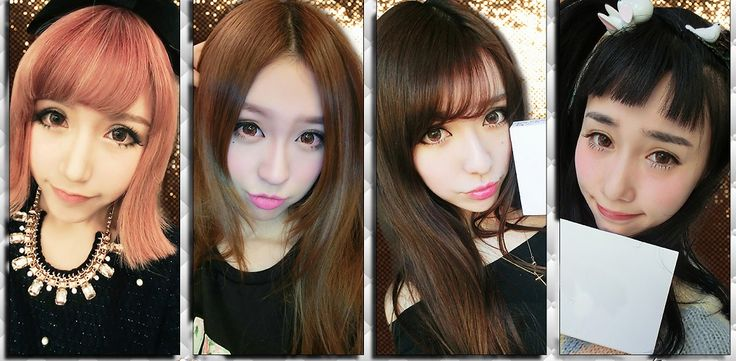 Cosmetic Colored Prescription Contact Lenses Luxurious Fashion (Brown)
