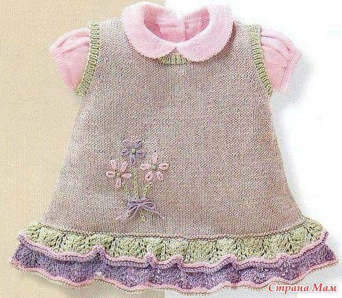 Сарафан спицами - Вязание для детей - Страна Мам