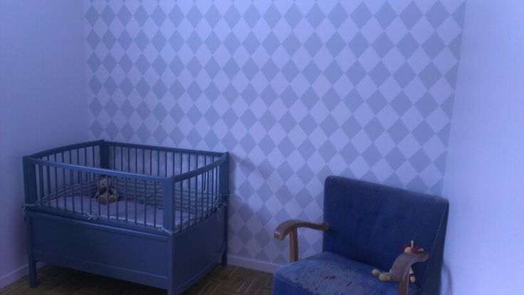Baby room. Wall paper from Fionia.
