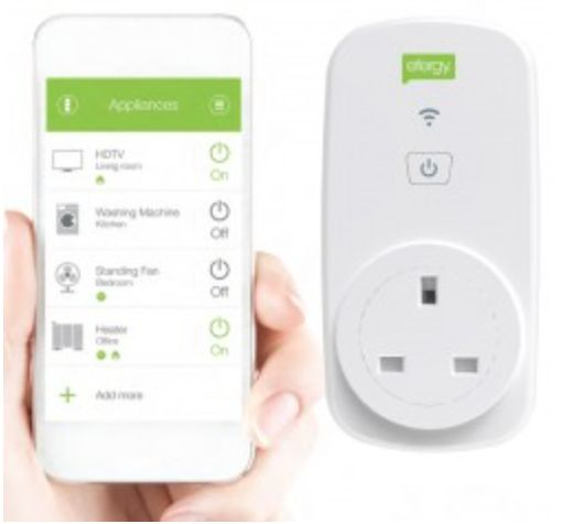 www.peridotplace.com Efergy Ego smart wifi socket. Allows you to switch on and off appliances and monitor the energy consumption from your smartphone #energyefficiency #greenliving #energymonitoring