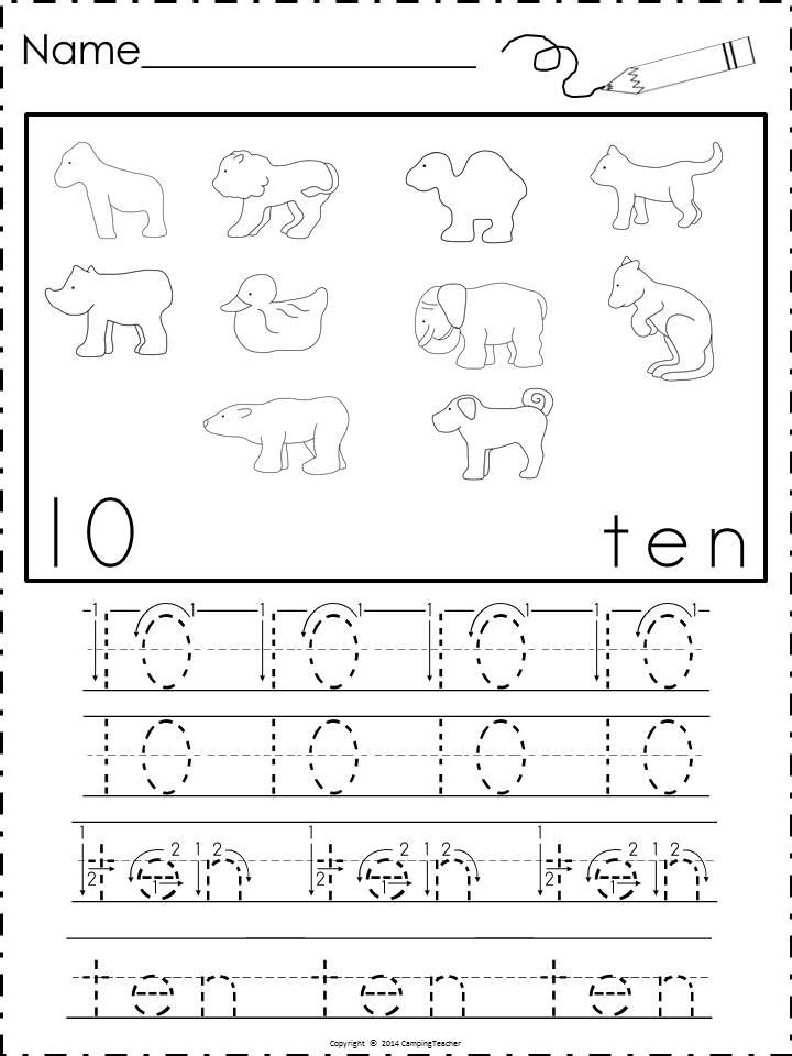 Animal Cookies Math Packet-D'Nealian and block print | Mathematics ...