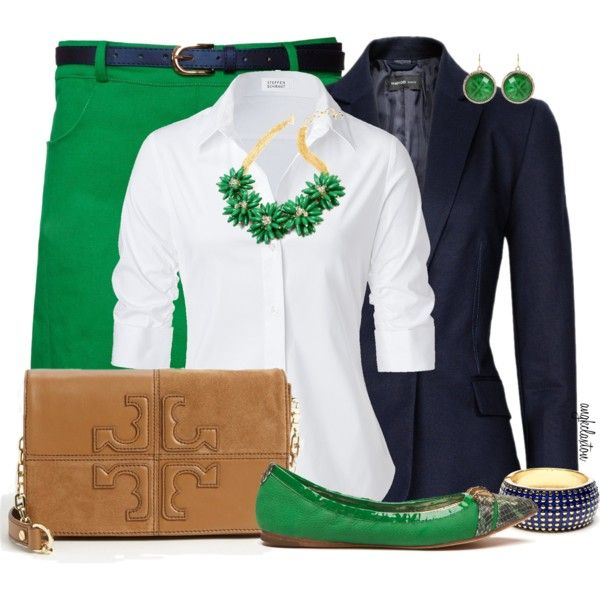 what about black blazer ... or do I have a blue one? ... love the green shoes and necklace ... to go with my kelly capris