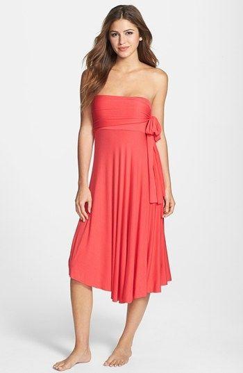 ELAN Convertible CoverUp Dress/Skirt Dark Coral $32 LARGE AUTHENTIC DESIGNER SELECTION VISIT:  www.shorecasuals.com