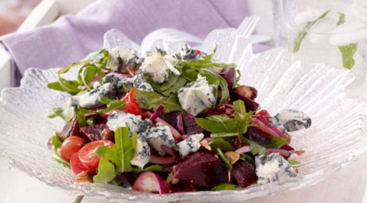 Blue Cheese, Beetroot and Hazelnut Salad