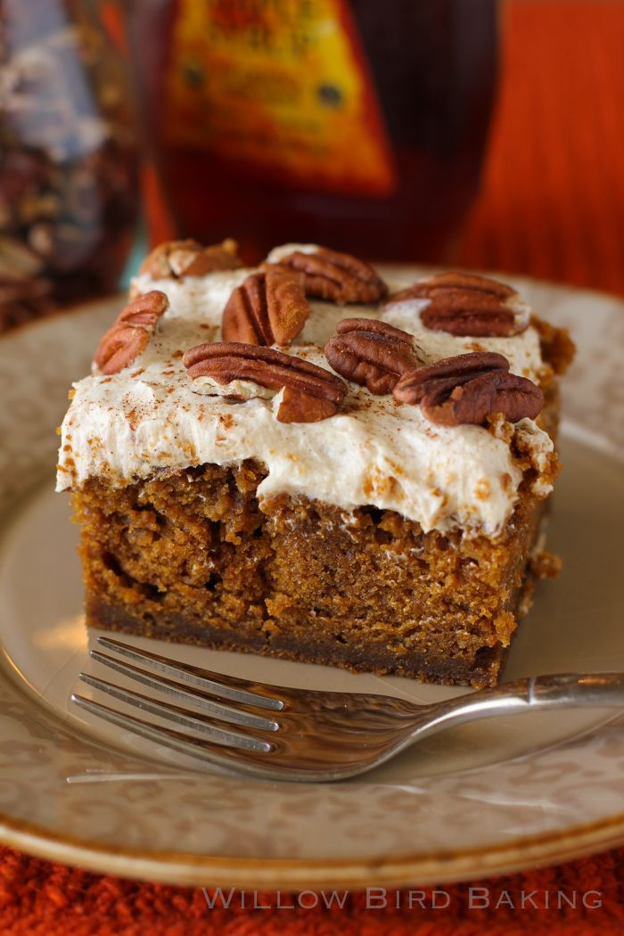 Drunken Pumpkin Gingerbread Snack Cake: This cake is a great holiday or company cake — or a great Monday cake, let's be real.