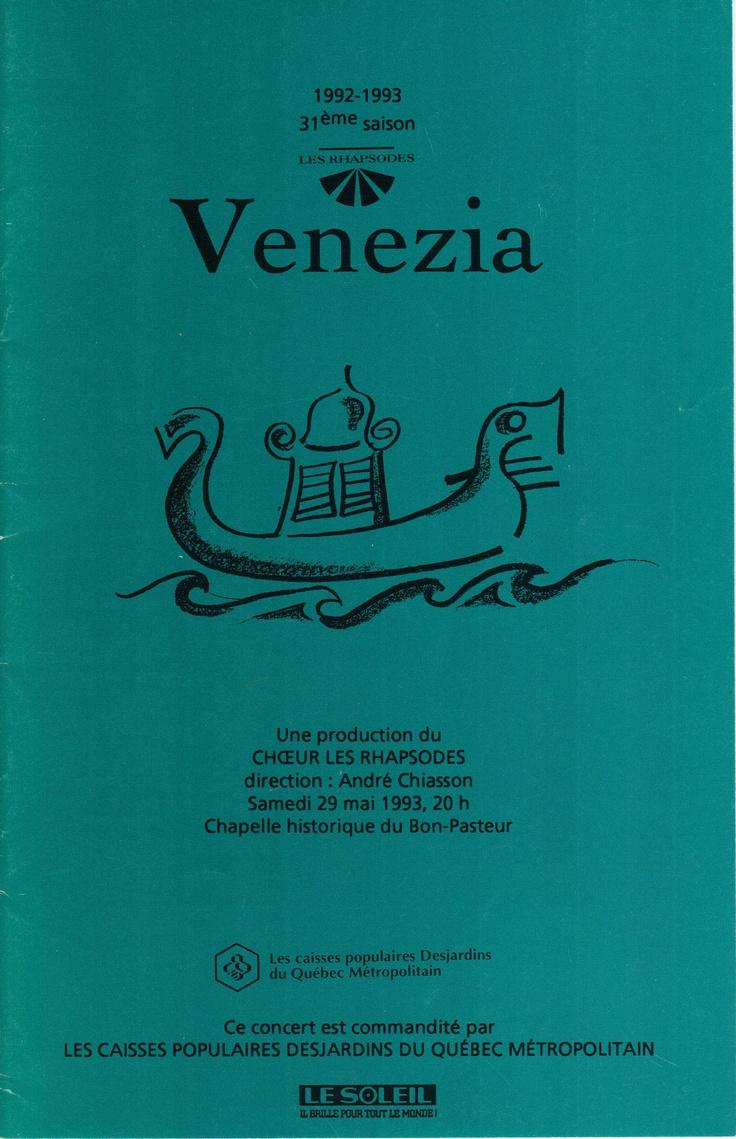 Mai 1993  Venezia  Les Rhapsodes