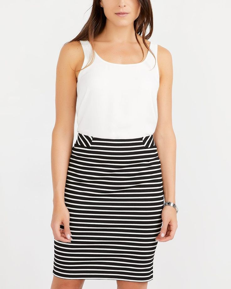 Shop online for Striped Pull-On Pencil Skirt. Find Skirts, Shop All and more at Reitmans