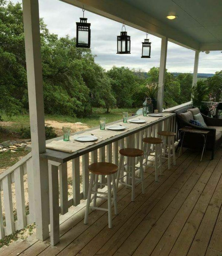 Could use stools from kitchen island outdoors #deckdesigns – Beautiful DIY Decks