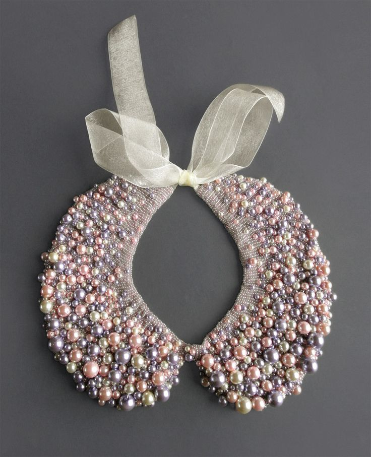 Handmade pearl collar necklace by ilvakampare