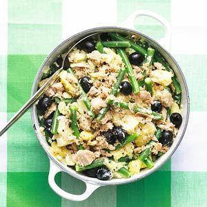 Recept - Stamp met sperziebonen, tonijn en olijven - Allerhande