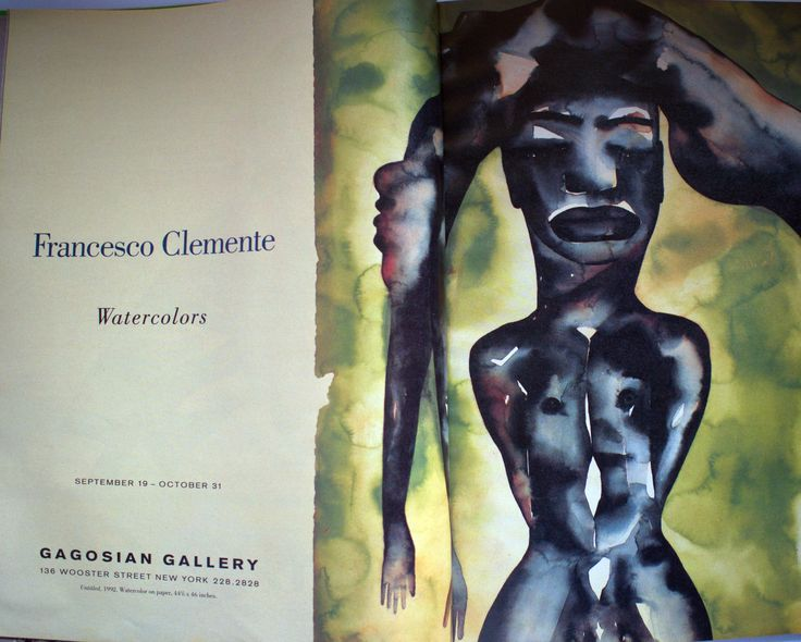 FRANCESCO CLEMENTE IN GAGOSIAN GALLERY. 1992 - Interview magazine.