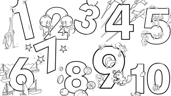 Coloring pages for kids, Coloring pages and Numbers on Pinterest