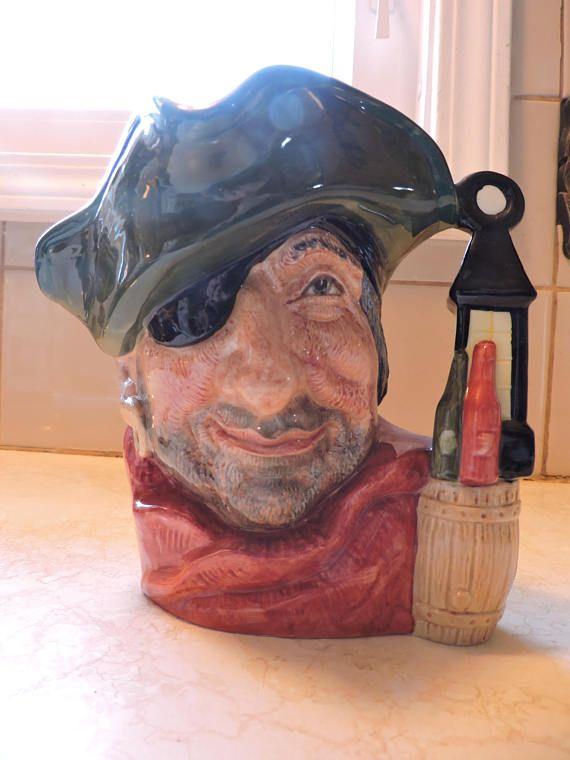 Smuggler Wine Bottles Barrel & Lamplight Handle Royal Doulton