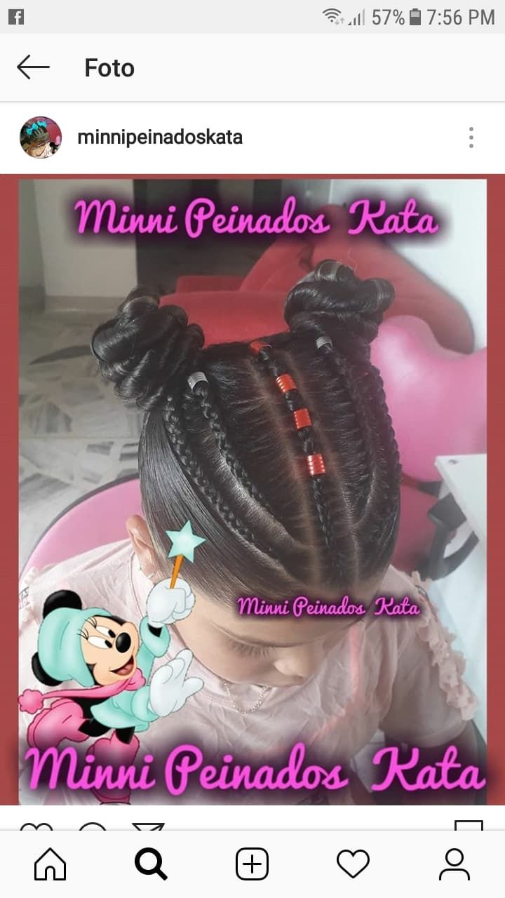 minnipeinadoskata  Peinados infantiles, Peinados con trenzas para