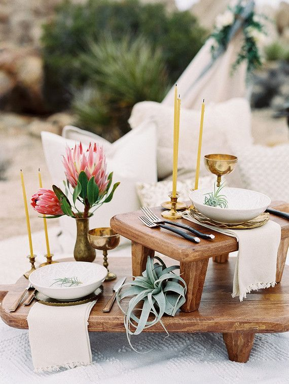 Desert bohemian wedding inspiration