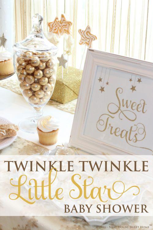 Wonderful Twinkle Twinkle Little Star Baby Shower