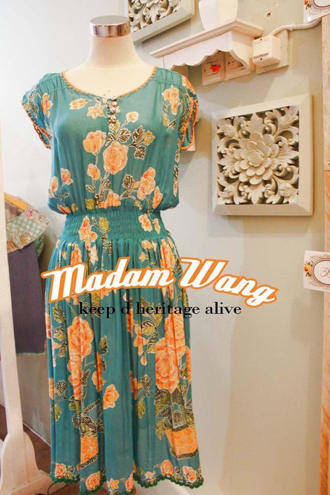 turquoise batik dress, paris batik dress