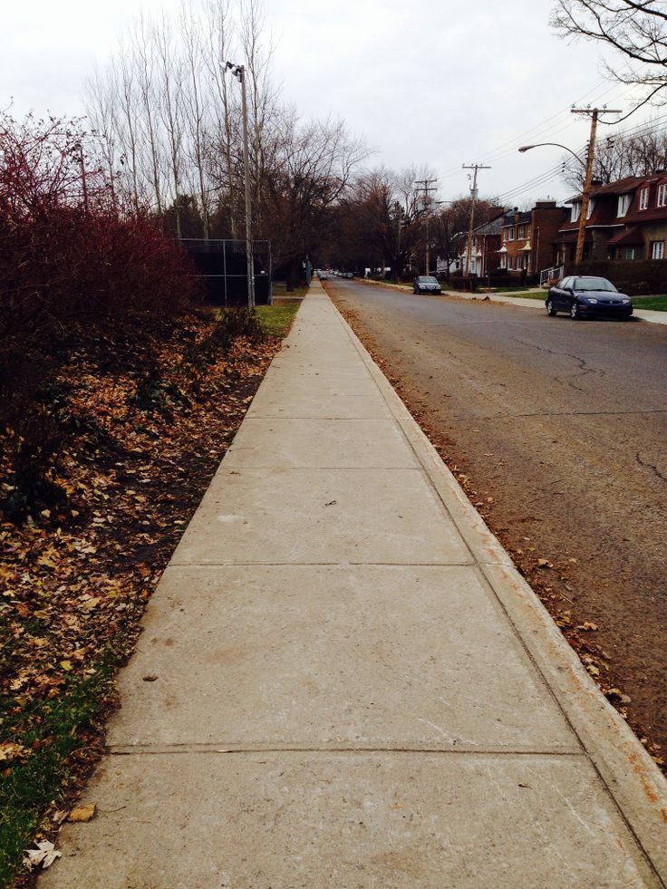 The Sidewalk Disappearing Point