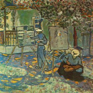 Czóbel Béla: Festők a szabadban, 1906 (Nagyítható kép)