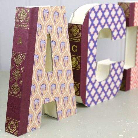 Decorative letter notebooks