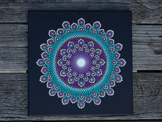 Mandala Dot Art Painting on Wrapped Canvas 12 by LaBellaArtigiana