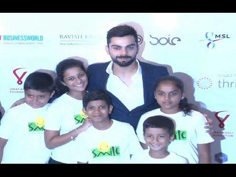 Virat Kohli attends charity Gala dinner for Smile Foundation.