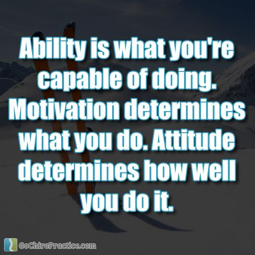 Motivation Picture Quotes: Ability Is What You're Capable Of Doing. Motivation