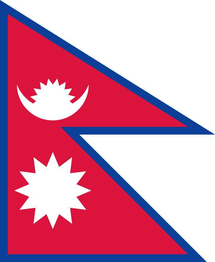 Flag of Nepal - Bandeiras da Ásia – Wikipédia, a enciclopédia livre
