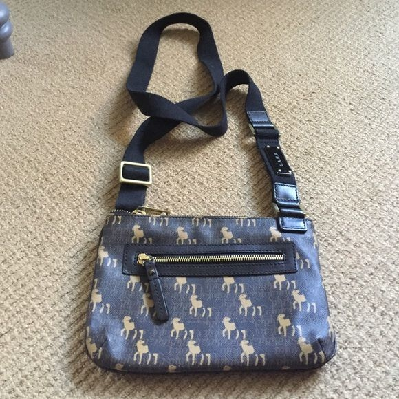 L.A.M.B. Crossbody bag Dark brown crossbody bag with light brown and black lambs. Excellent condition. No stains, tears or flaws. L.A.M.B. Bags Crossbody Bags