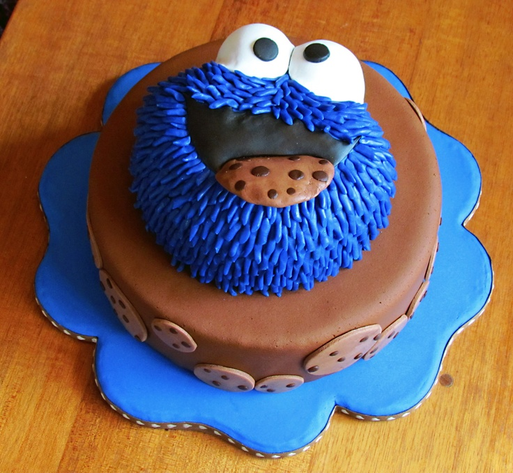 Cookie Monster cake // Tarta del monstruo de las galletas