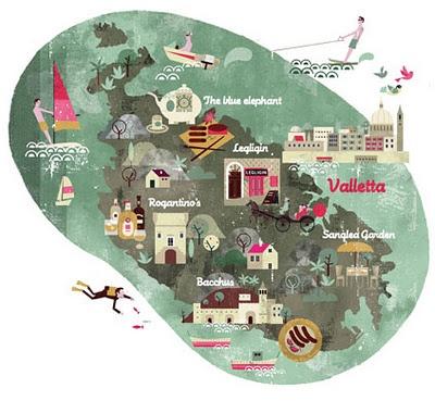 Malta by Luciano Lozano #map #travel