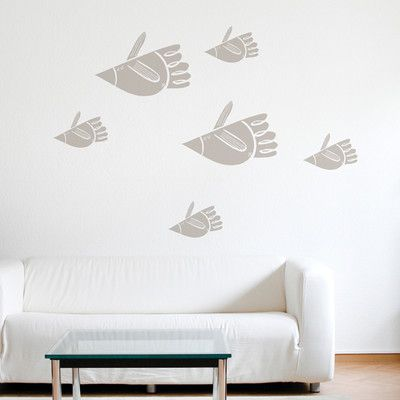 ADZif Spot Bird Fish Wall Decal Color Warm Grey Products - Window decals for birds canada