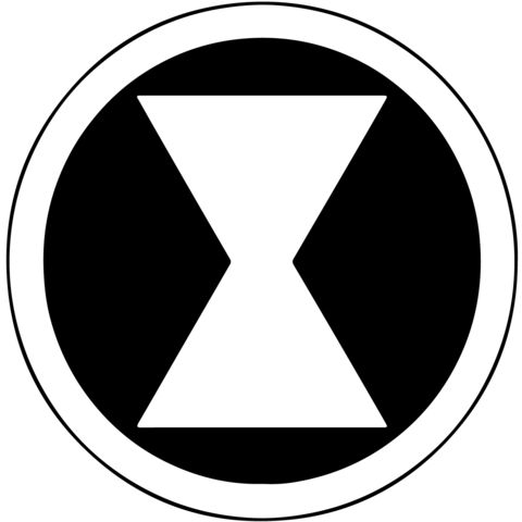 Marvel - Black Widow Symbol Vinyl Decal | Marvel ...