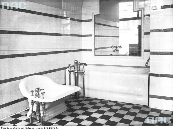 Bathroom, before 1939.