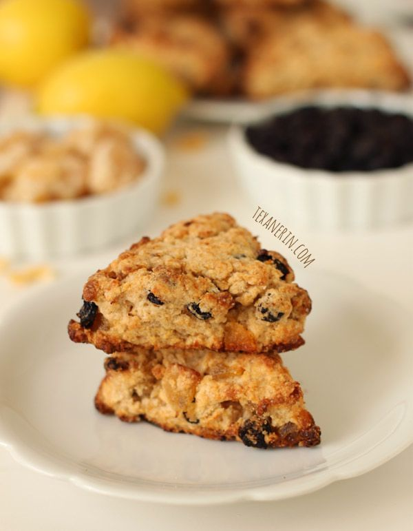Whole Wheat Blueberry Lemon Ginger Scones