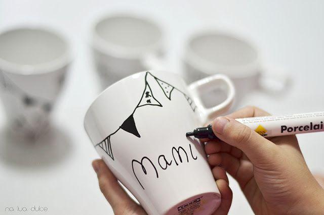 Como pintar tazas