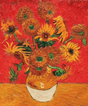 Sunflowers Red Vincent Van Gogh In 2019 Vincent Van Gogh Van
