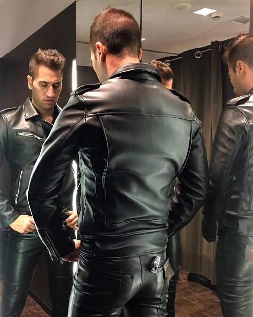 gay jeans leather