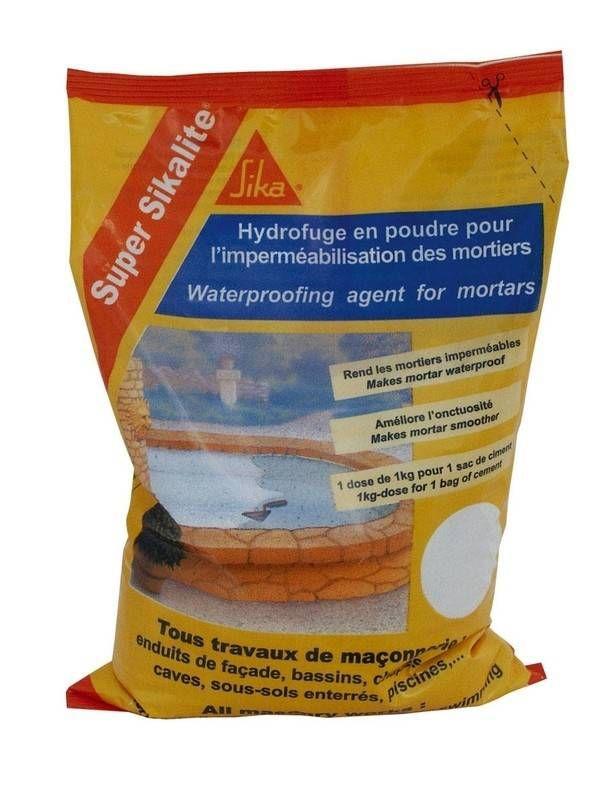 Super Sikalite Hydrofuge En Poudre Sika Travaux De Maconnerie Poudre Enduire