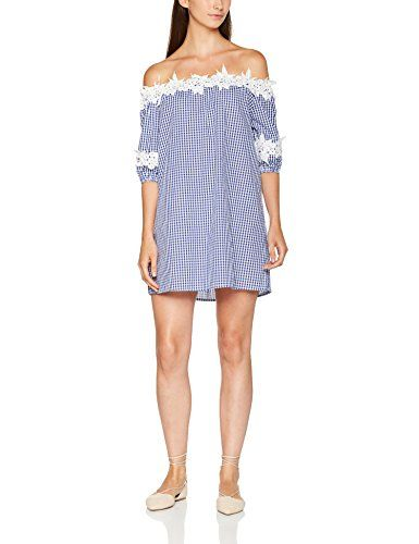 Shop New Look Women's Crochet Trim Gingham Bardot Dress. Free delivery and returns on eligible orders.
