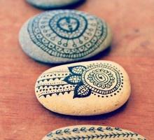 Indian Ink Zen Stones