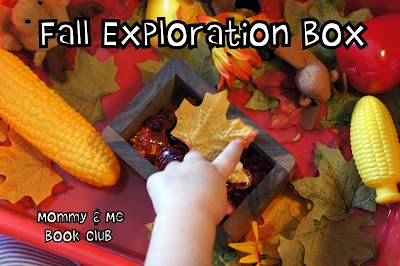 Mommy and Me Book Club: Fall Exploration Box: Bin Ideas Checked, Mommy And Me, Exploration Box, Book Clubs, Apples, Apple Trouble, Fall Kiddos