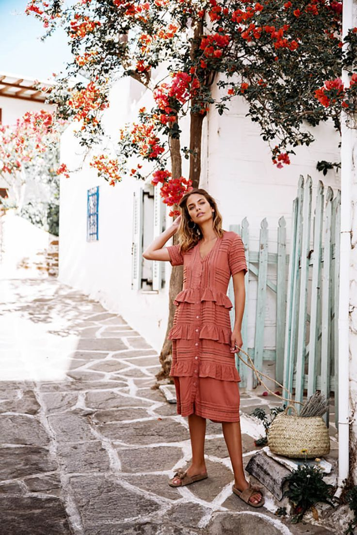 Carefree And Luxe Styles Combine At Lilya For The Ultimate Pairing Trendy Dresses Summer Summer Dress Outfits Style [ 1104 x 736 Pixel ]