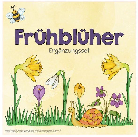"""Frühblüher (Ergänzungsset) Aufgrund eurer Anregungen und Ideen habe ich noch drei weitere Blätter rund ums Thema """"Frühblüher"""" erstellt (A..."""