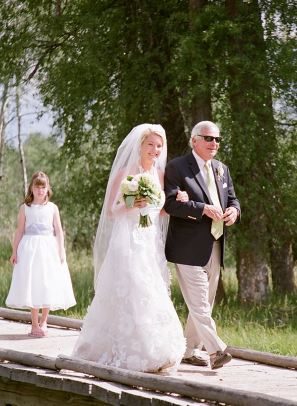 The Hesitation Step - the ceremonial form of walking used by the bride to walk down the aisle. Step forward, pause, rock back on the back leg and then step forward again. Xx